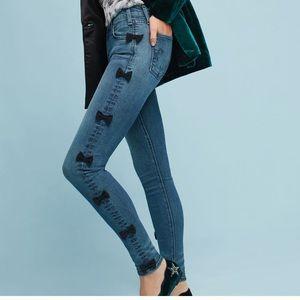 Anthropologie McGuire Newton Bow Skinny Jeans